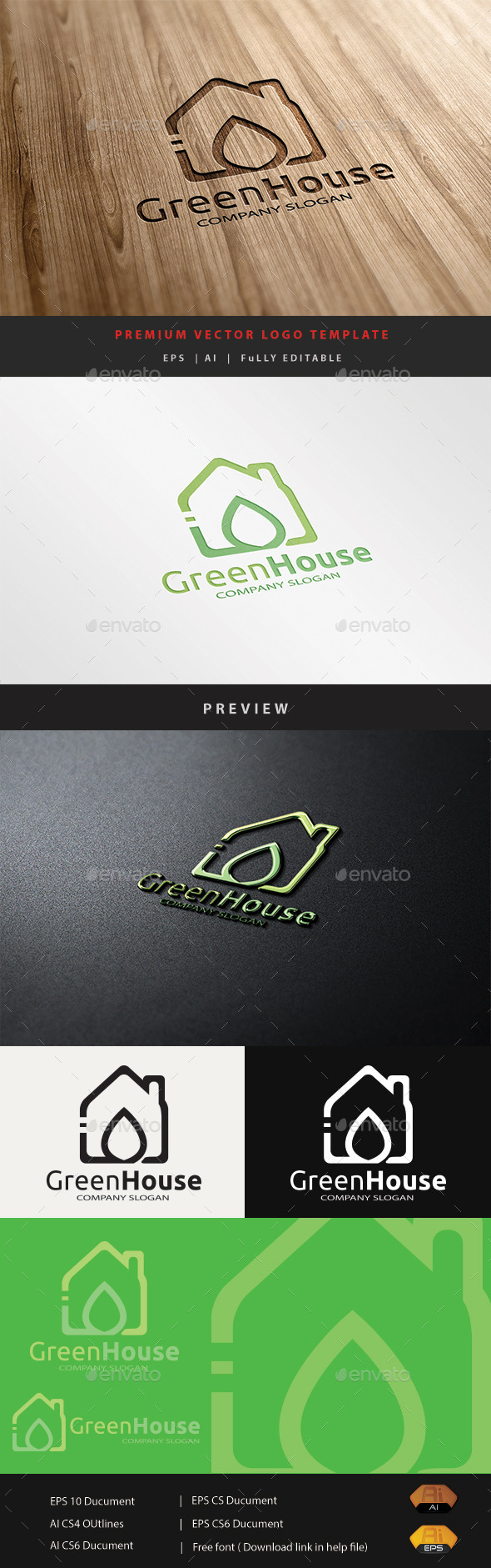 GraphicRiver Green House 10807141