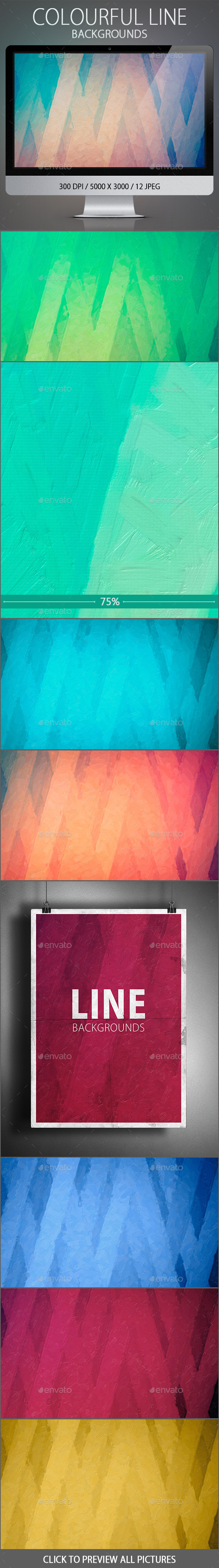 GraphicRiver Colourful Line Backgrounds 10807149