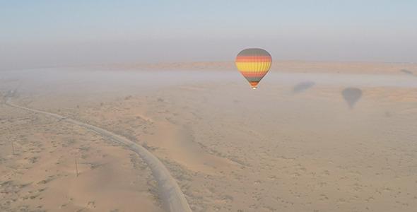 Flying over Desert Road