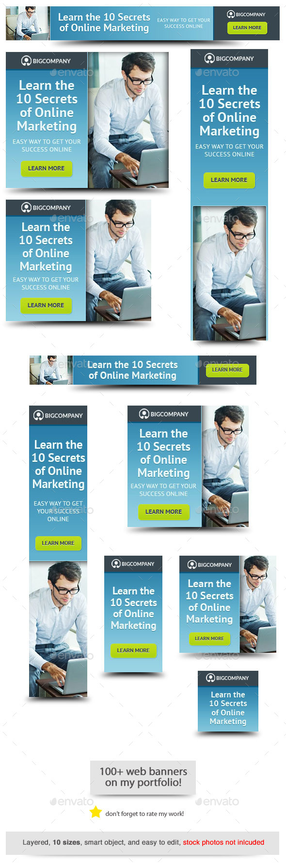 GraphicRiver Marketing Secrets Web Banner 10809002