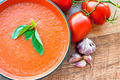 Bowl of tomato soup gaspacho - PhotoDune Item for Sale