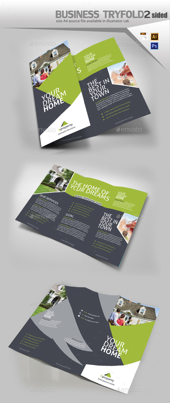 GraphicRiver Business Trifold Brochure 10809139