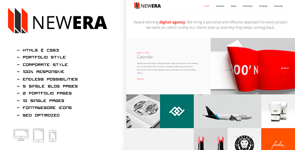ThemeForest NEWERA Smart Portfolio and Business Template 10809169
