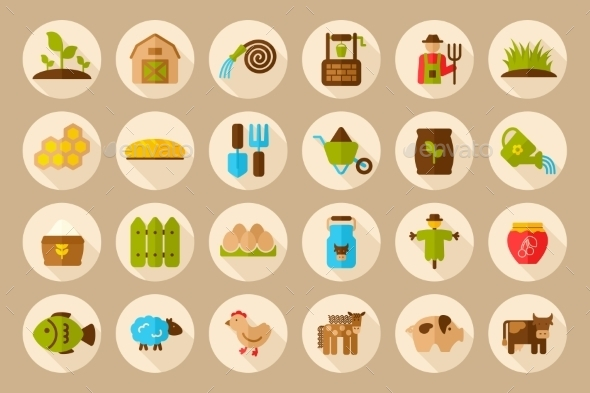 GraphicRiver Farm Garden Icons 10809222