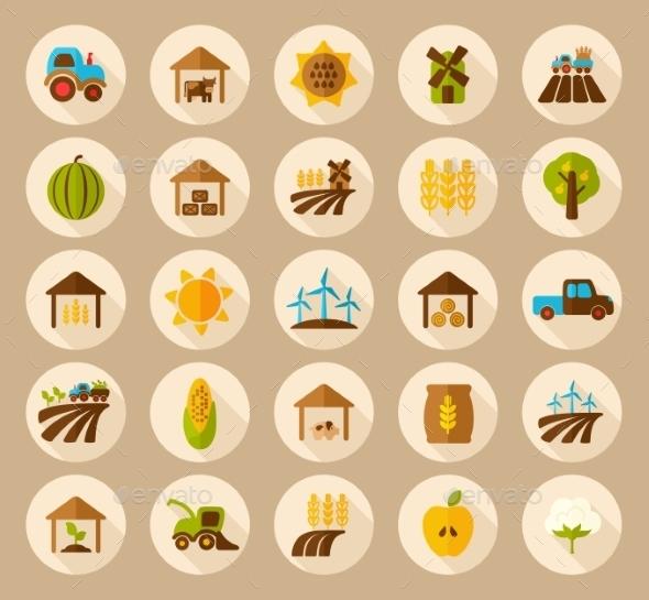 GraphicRiver Farm Field Icons 10809331