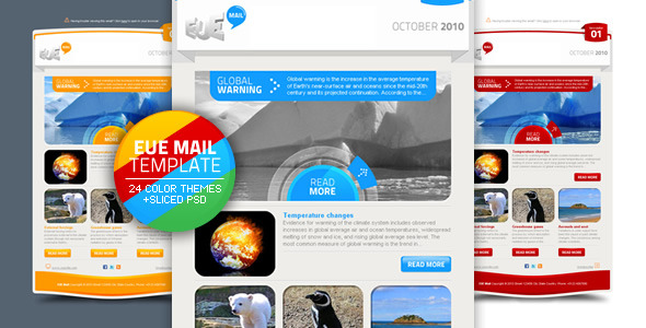 ThemeForest EUE Mail Template 134662