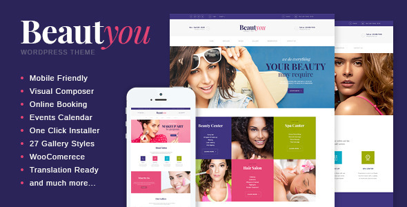 ThemeForest Beautyou Beauty Hair & Spa Salon Wordpress Theme 10809566