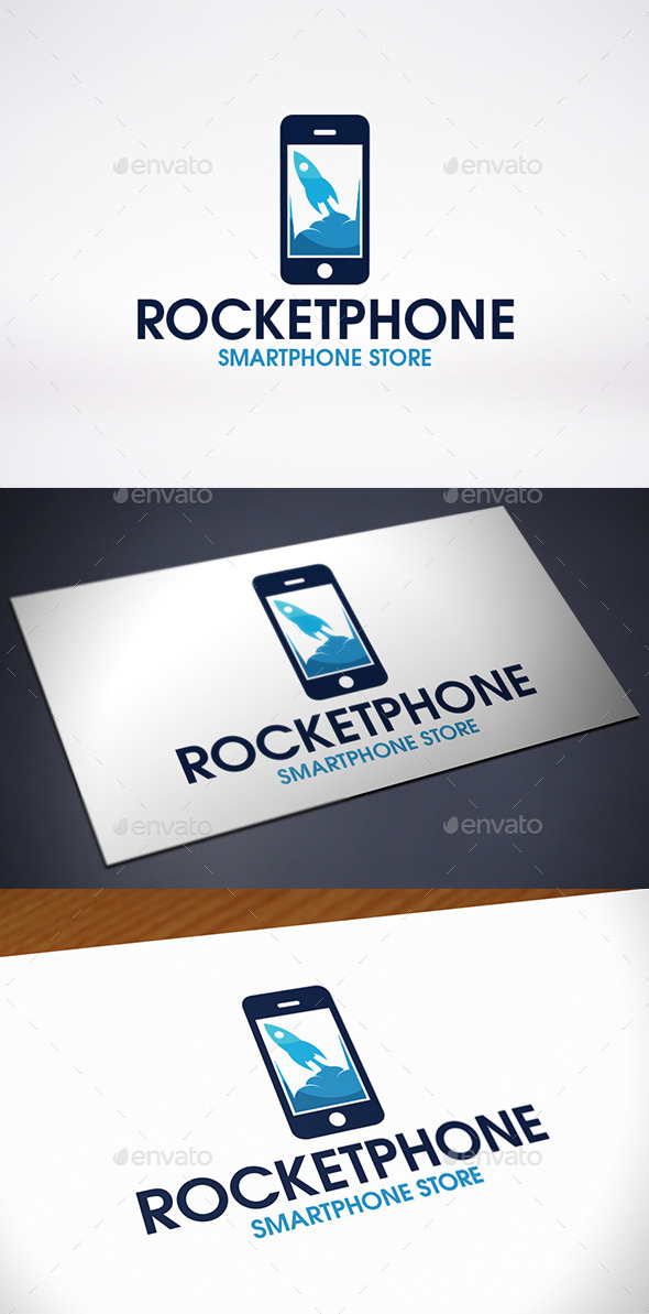 GraphicRiver Rocket Phone Logo Template 10809575