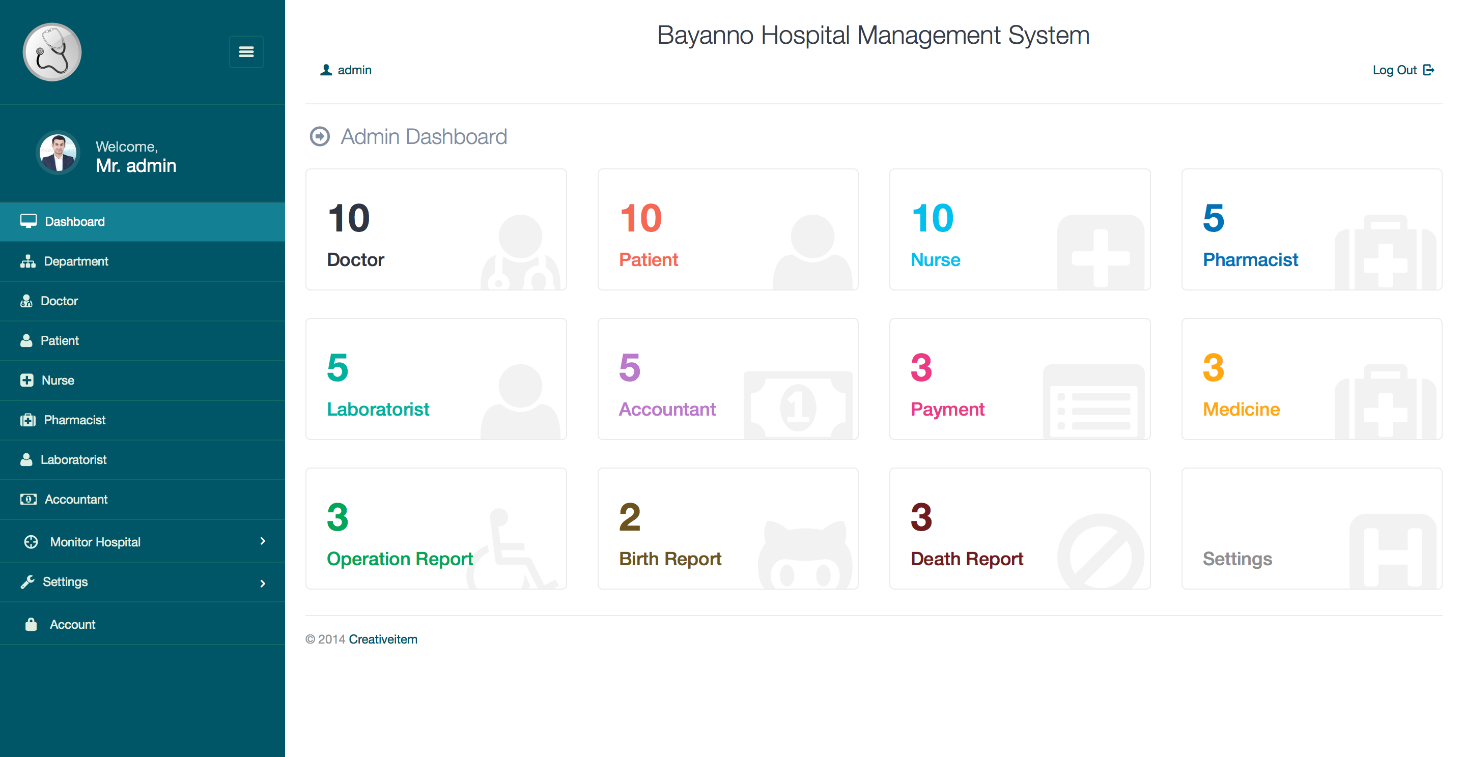 Bayanno Hospital Management System By Creativeitem
