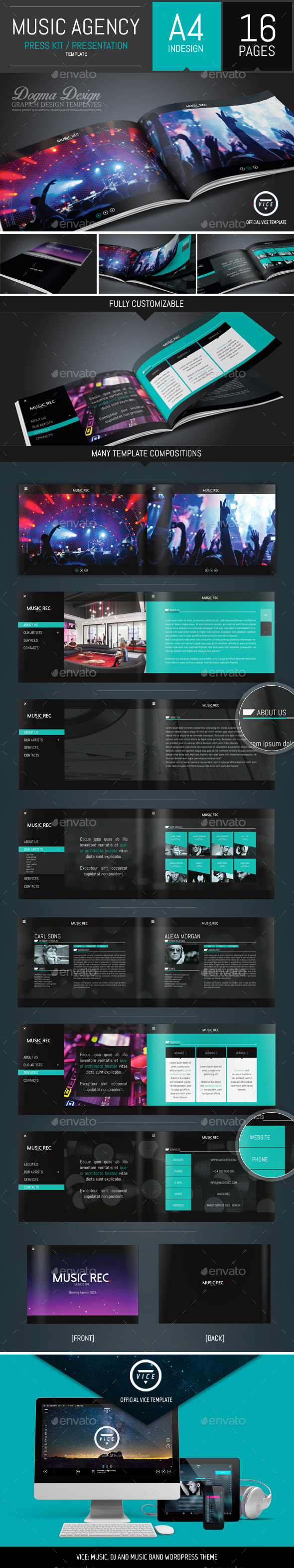 GraphicRiver Vice Dj and Booking Agency Portfolio Brochure 10809684