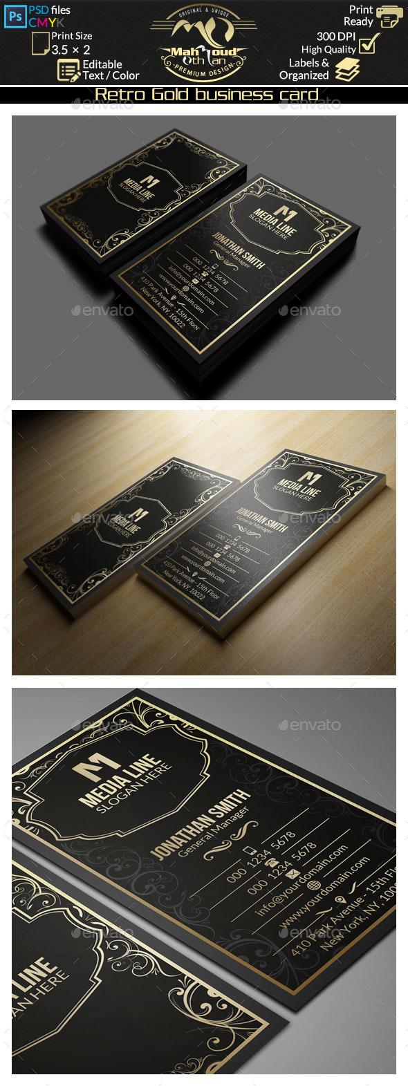 GraphicRiver Retro Gold Business Card 10809829
