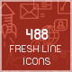 Fresh Line Icon Set - GraphicRiver Item for Sale