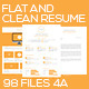 Flat and Clean Resume - GraphicRiver Item for Sale