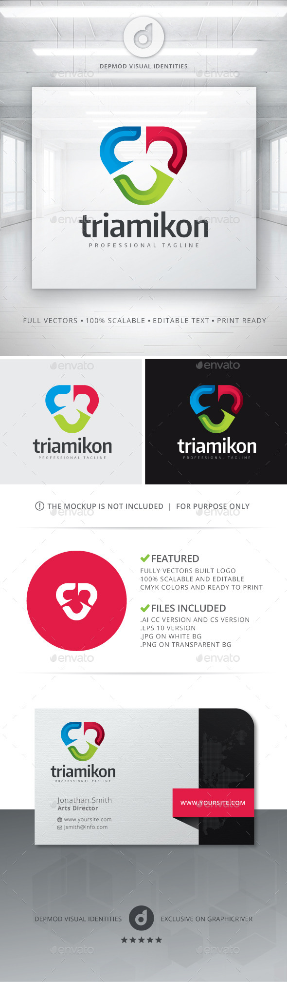 GraphicRiver Triamikon Logo 10809967