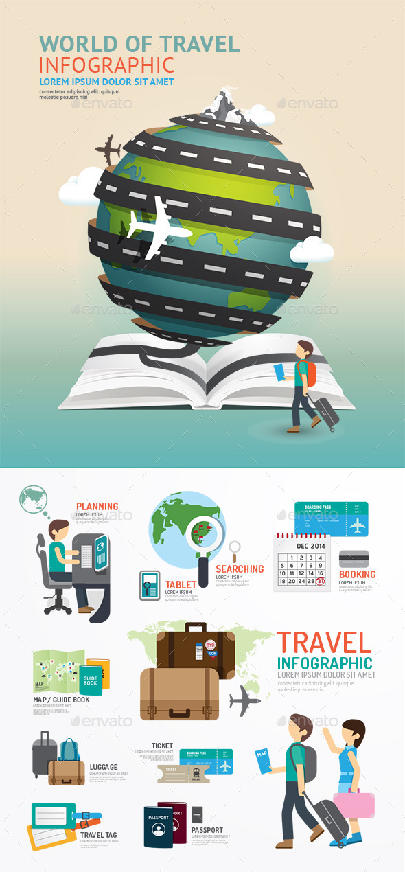 GraphicRiver Set of World Travel Template Design 10363367