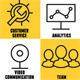 Set of Linear Internet Service Icons - GraphicRiver Item for Sale