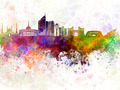 Astana skyline in watercolor background - PhotoDune Item for Sale