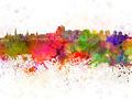 Ottawa skyline in watercolor background - PhotoDune Item for Sale
