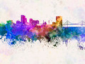 Toledo OH skyline in watercolor background - PhotoDune Item for Sale