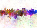 Winnipeg skyline in watercolor background - PhotoDune Item for Sale