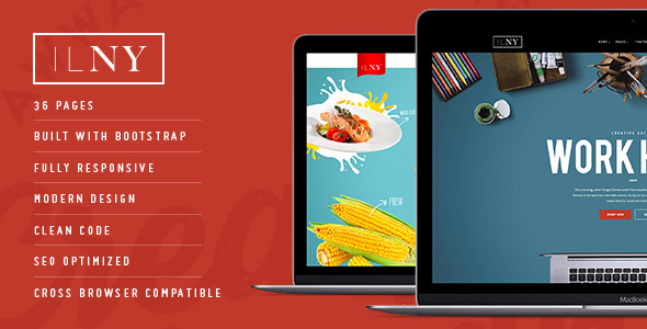 ThemeForest ILNY Responsive Multi-Purpose HTML Template 10810214