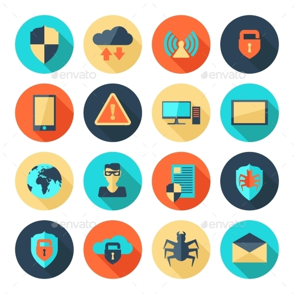GraphicRiver Network Security Icons 10810223