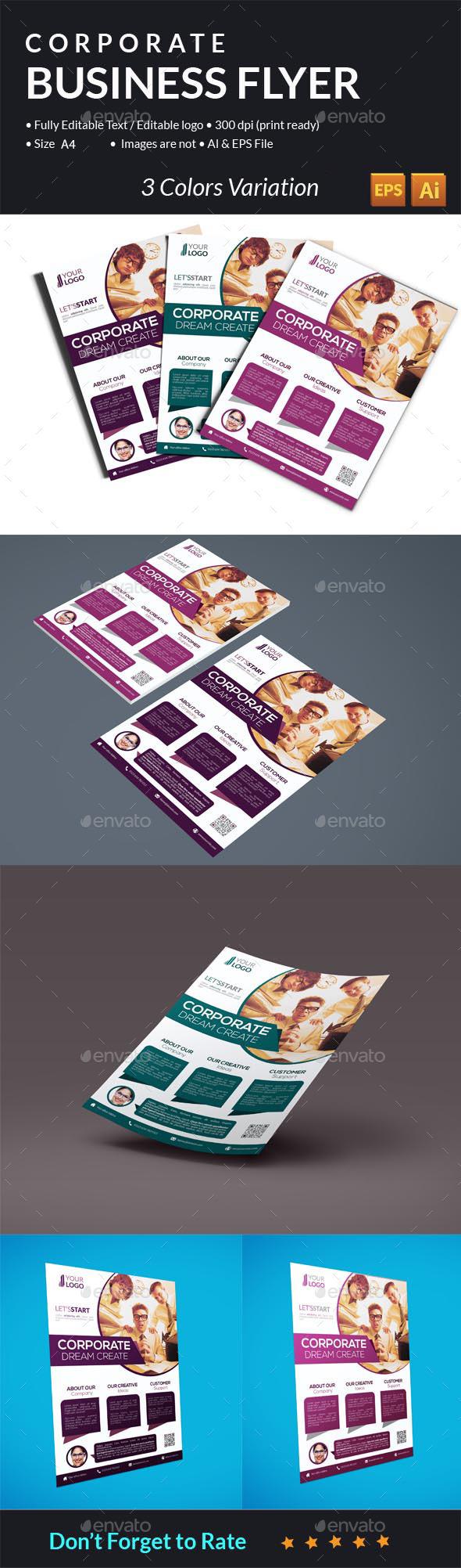 GraphicRiver Minimal Corporate Flyer 10759289