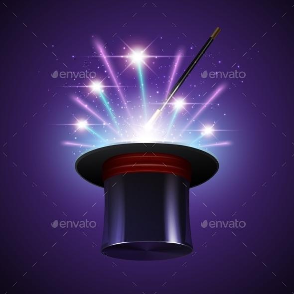 GraphicRiver Magic Hat Background 10810268