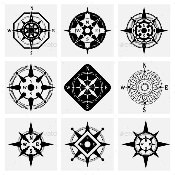 GraphicRiver Compass Icons Set 10810295