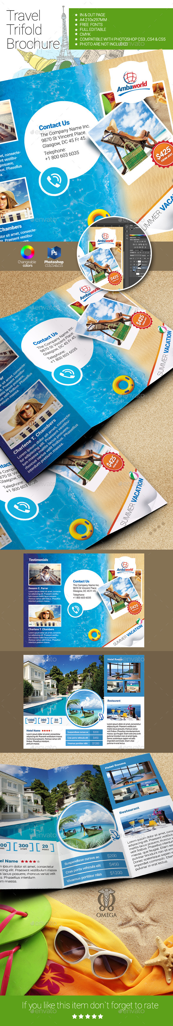GraphicRiver Travel Trifold Brochure 10810346