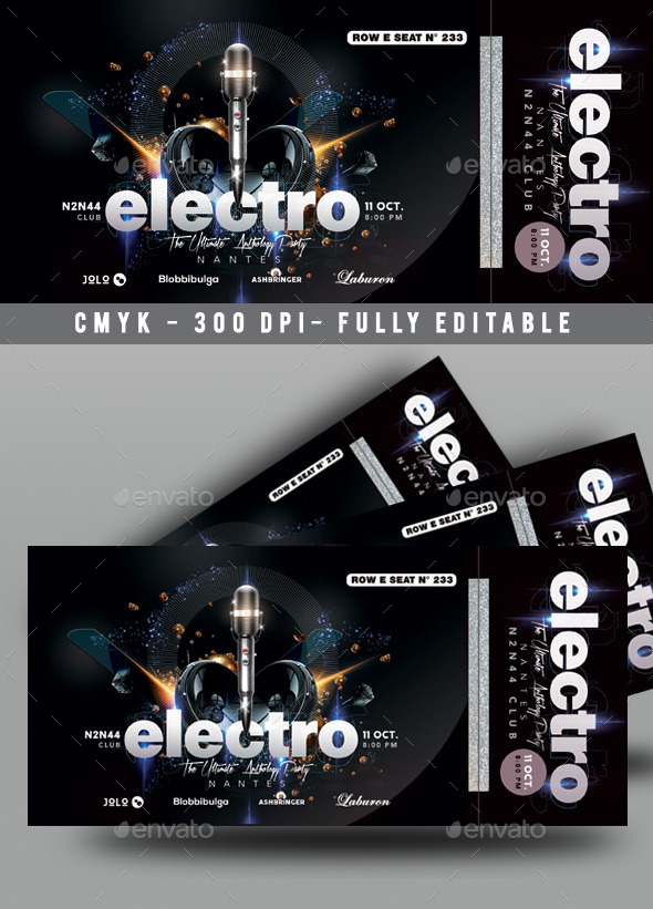 GraphicRiver Concert Ticket 10810398