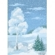 Christmas Winter Forest Landscape - GraphicRiver Item for Sale