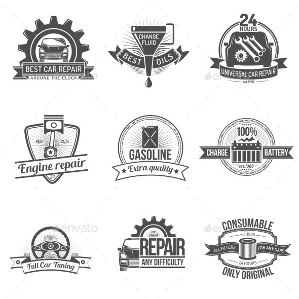 GraphicRiver Auto Service Emblem 10810587
