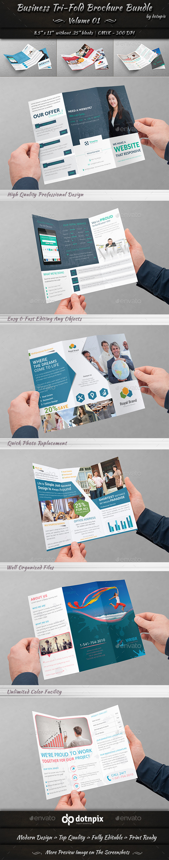 GraphicRiver Business Tri-Fold Brochure Bundle Volume 1 10810589