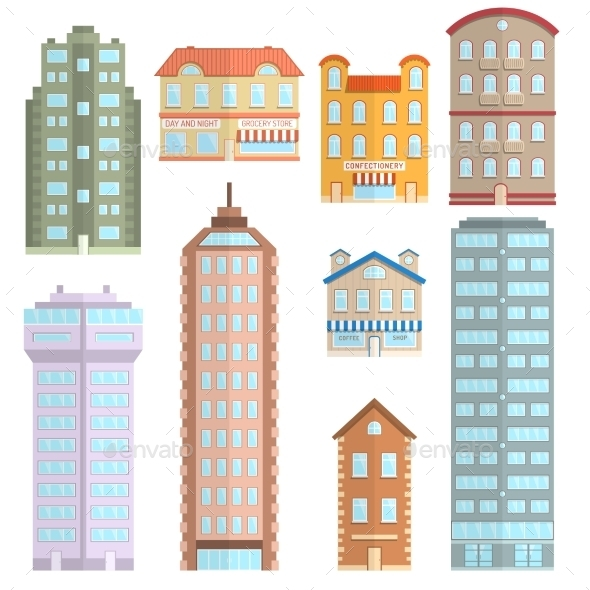 GraphicRiver House Icons Flat Set 10810604
