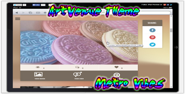 CodeCanyon Artvenue Theme Metro Vibes 10769448