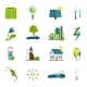 Eco Energy Flat Icons - GraphicRiver Item for Sale