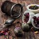 tea strainer and tea leaves - PhotoDune Item for Sale