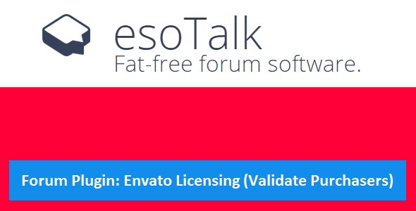 CodeCanyon esoTalk Forum Plugin Envato Licensing & Validate Purchaser 10736379
