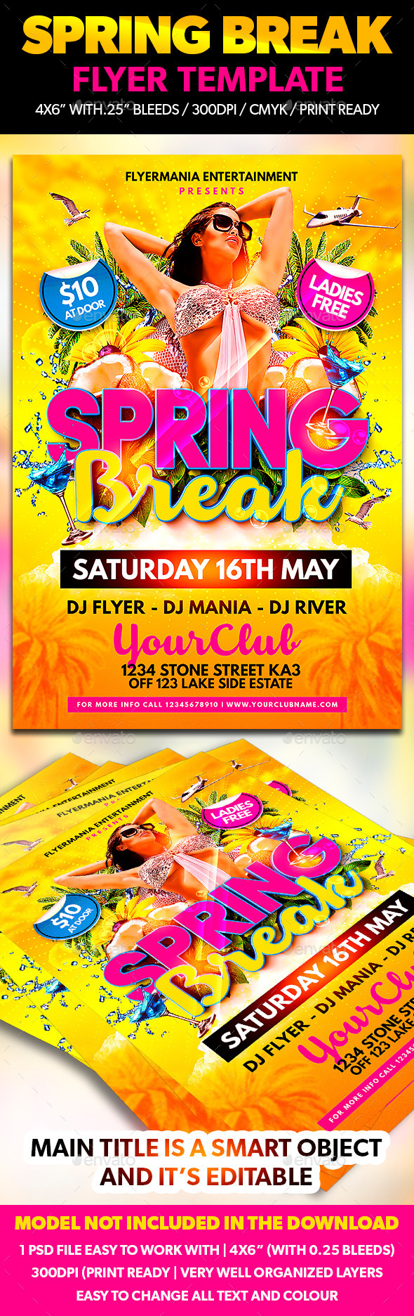 GraphicRiver Spring Break Flyer Template 10810847