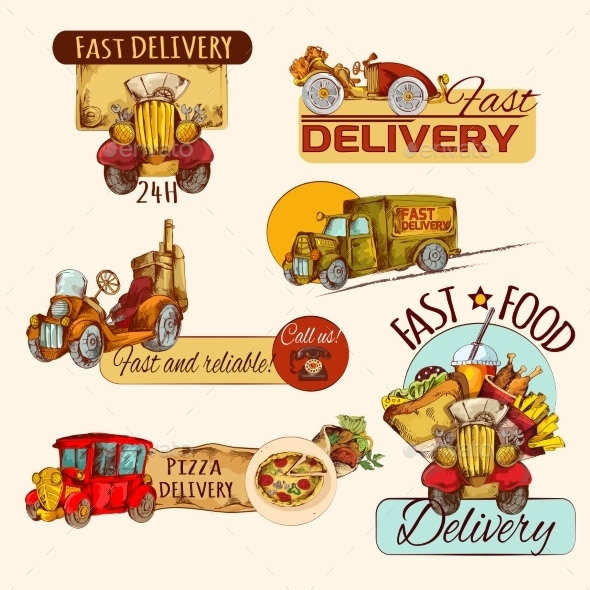GraphicRiver Delivery Emblems Set 10810933