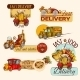 Delivery Emblems Set - GraphicRiver Item for Sale