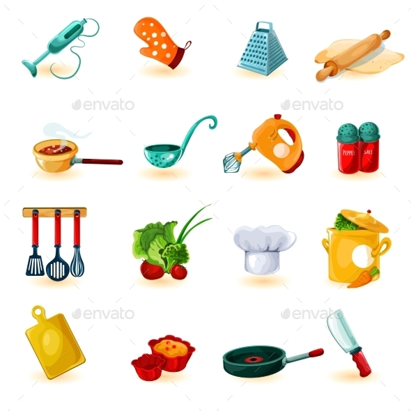 GraphicRiver Cooking Icons Set 10810977