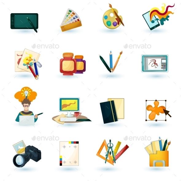 GraphicRiver Designer Icons Set 10811059