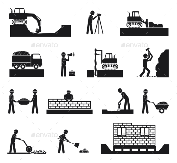 GraphicRiver Set of Builder Icons 10811115