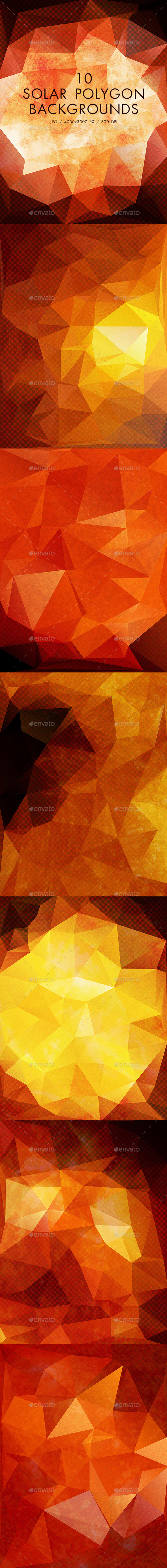GraphicRiver Solar Polygon Backgrounds 10811142