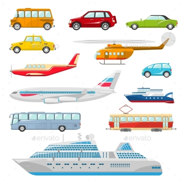 GraphicRiver Transport Icons Flat 10811149