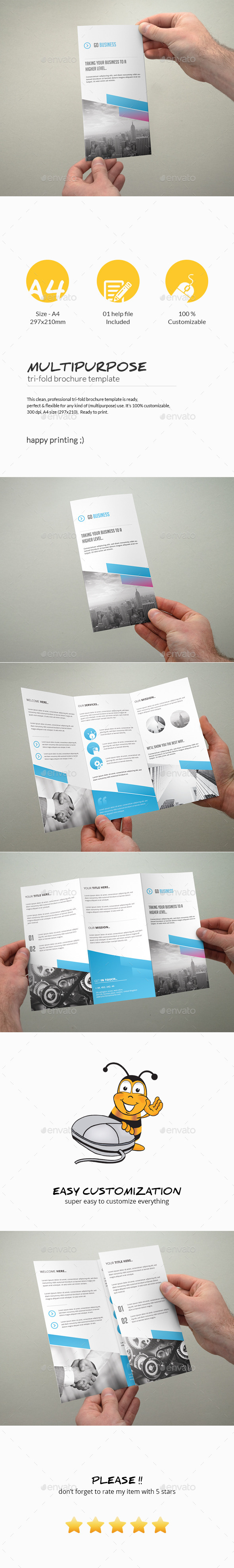 GraphicRiver Tri-Fold Brochure Multipurpose 10811249