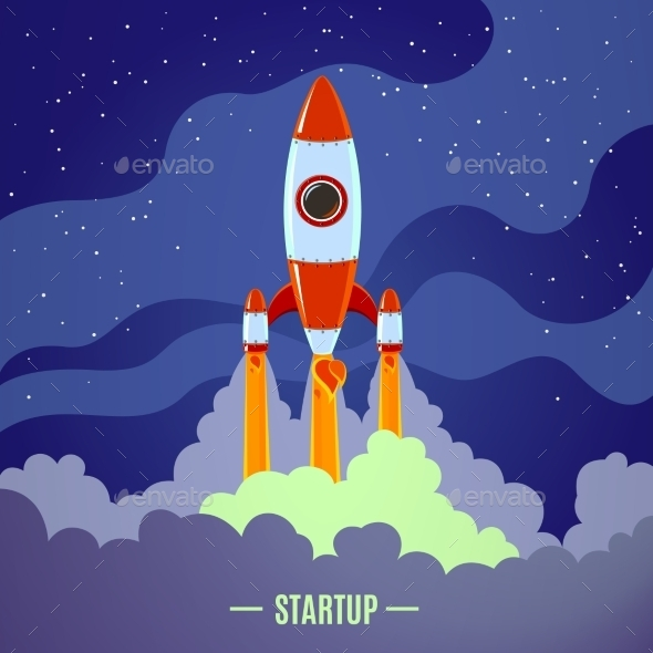 GraphicRiver Startup Rocket Launch 10811253