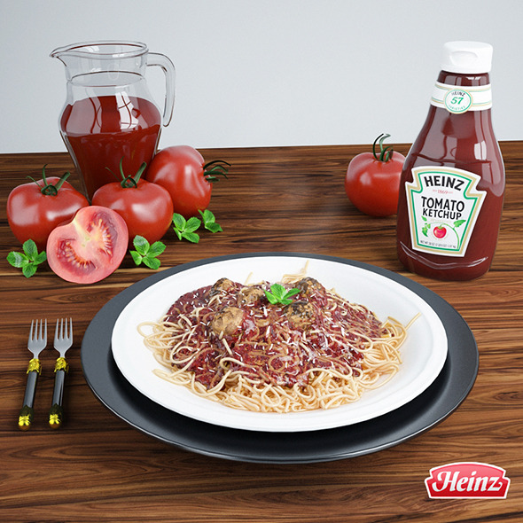 Meatball spaghetti - 3DOcean Item for Sale